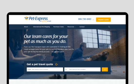 Petexpress Casestudy Web Design By Strong Digital Brisbane